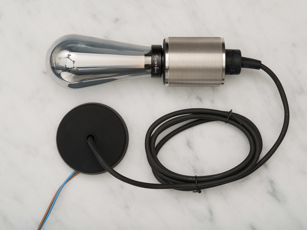 Stainless steel Lightbulb with lighting cord