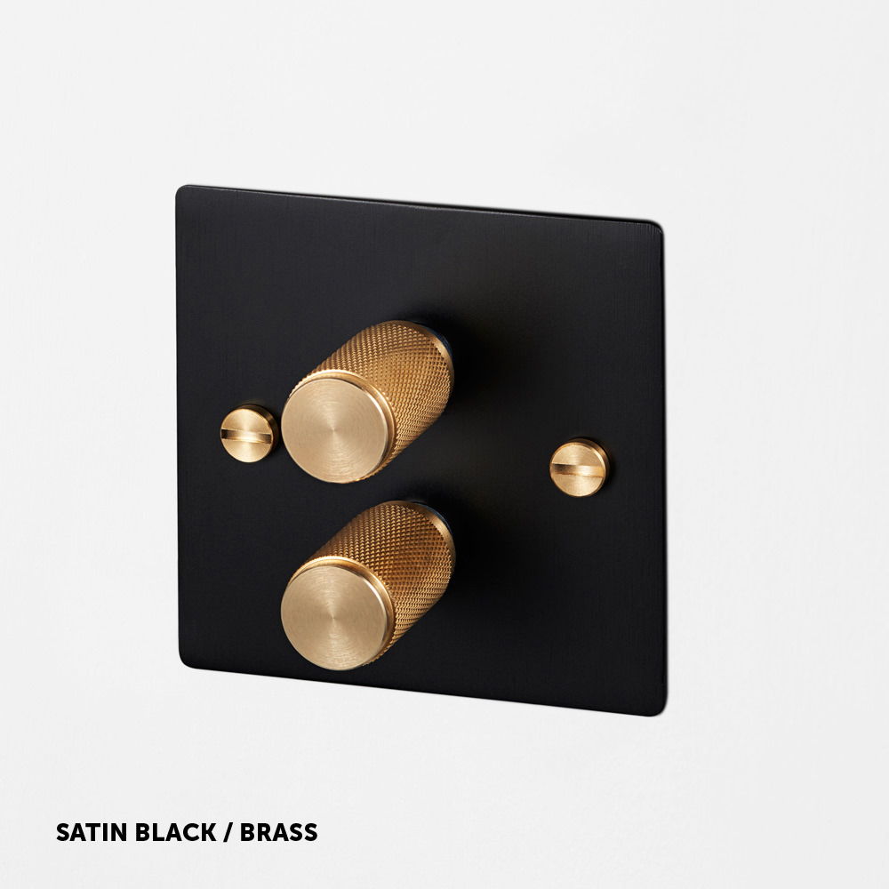Black satin/brass light switch by buster + punch