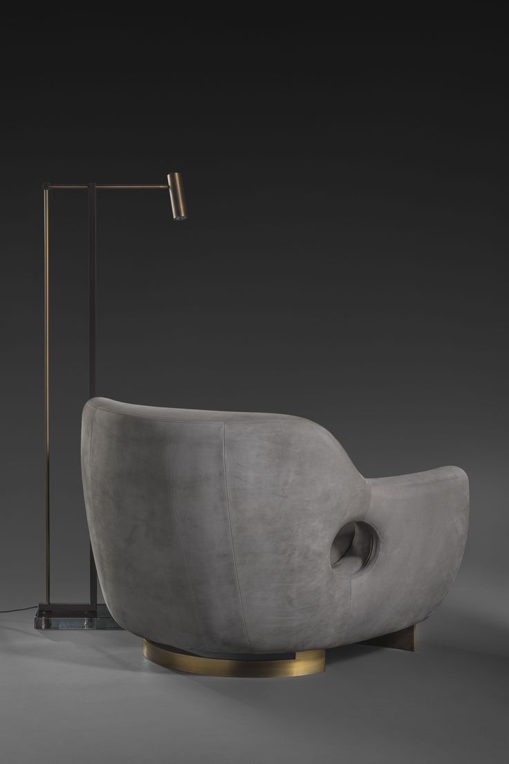 Bronze floor lamp by Bruno Moinard