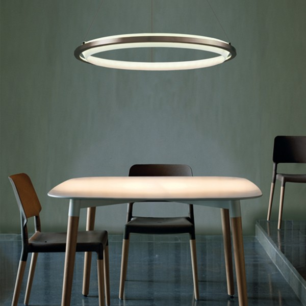 Nimba LED halo ceiling light by Santa Cole