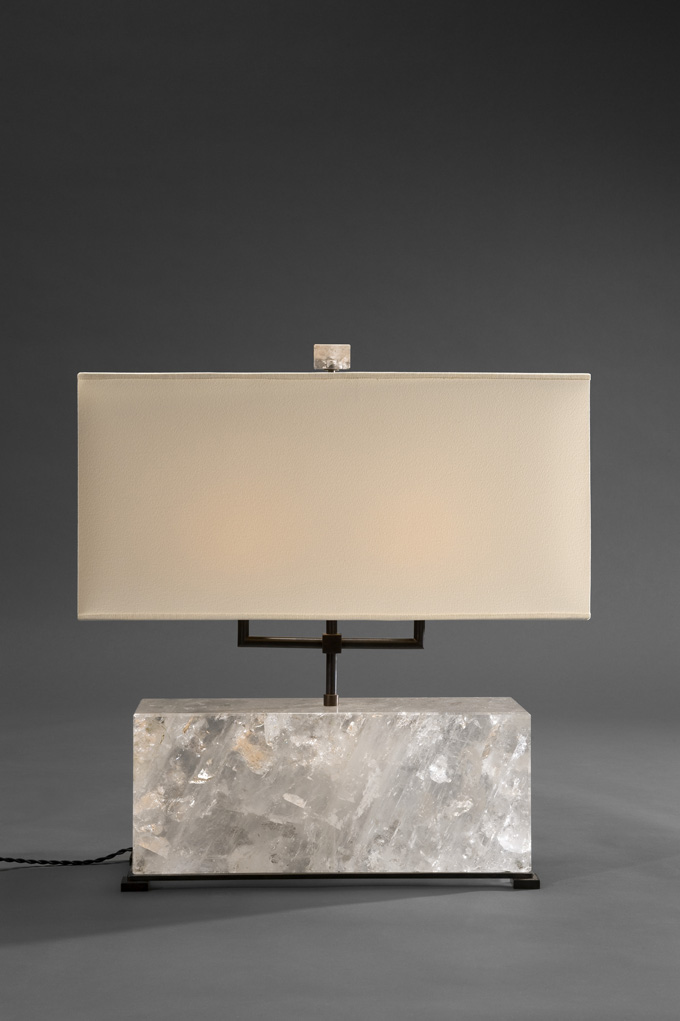 Large grey marble lamp