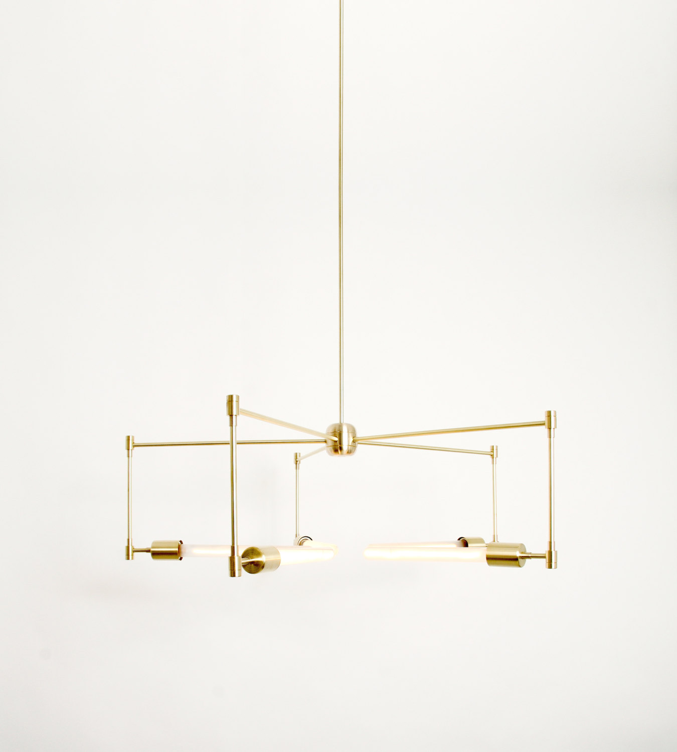 handmade brass asterix pendant light