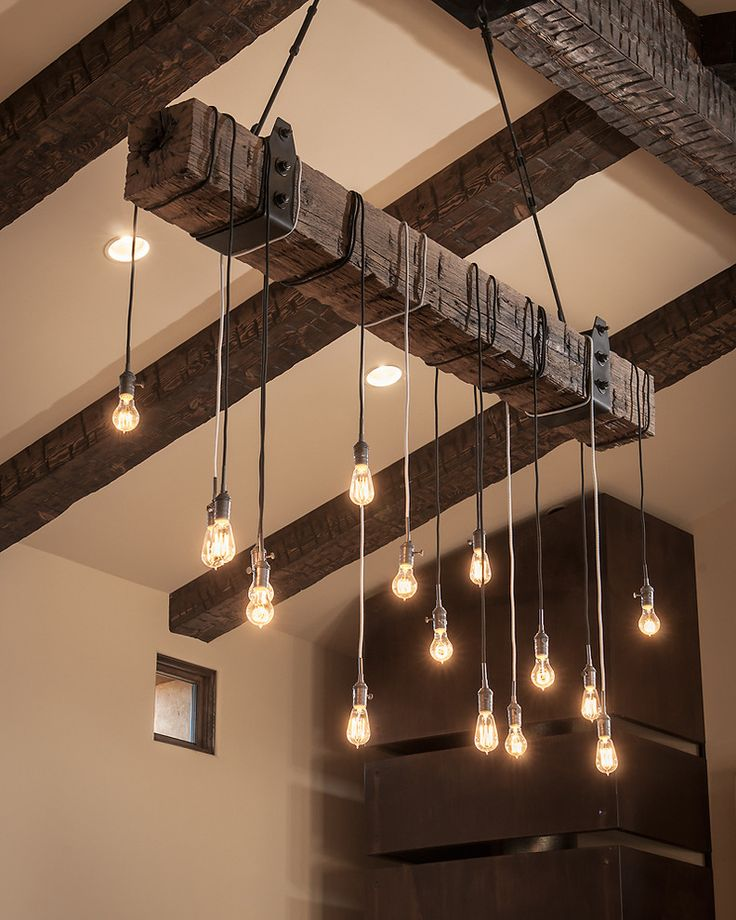 Wooden Beam lighting design fixture
