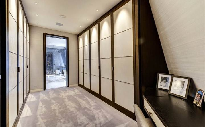 luxury white walk-in wardrobe design